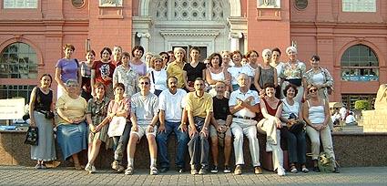 Bibliotheca Alexandrina groupe ADBS devant le musée du Caire