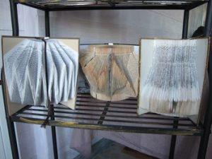 Livres pliés par Brigitte Grisel