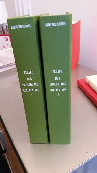 Reliure Soinne, Traité des procédures collectives