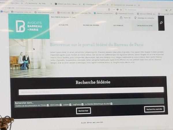 Moteur de recherche fédérée, Ordre des avocats de Paris, développé par PMB Services
